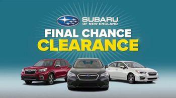 Subaru Final Chance Clearance TV Spot, 'Don't Miss: Impreza' [T2] - Thumbnail 4