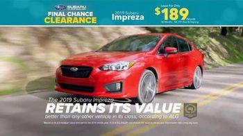 Subaru Final Chance Clearance TV Spot, 'Don't Miss: Impreza' [T2] - Thumbnail 5