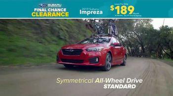 Subaru Final Chance Clearance TV Spot, 'Don't Miss: Impreza' [T2] - Thumbnail 7