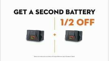 STIHL TV Spot, 'Real STIHL: Battery Power Blower or Chainsaw + Second Battery' - Thumbnail 8