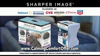 Sharper Image Calming Comfort TV Spot, 'Weighted Blanket & Cooling Knee Pillow' - Thumbnail 10