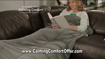Sharper Image Calming Comfort TV Spot, 'Weighted Blanket & Cooling Knee Pillow' - Thumbnail 4