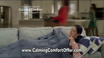 Sharper Image Calming Comfort TV Spot, 'Weighted Blanket & Cooling Knee Pillow' - Thumbnail 5