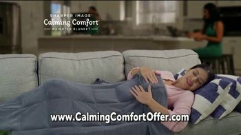 Sharper Image Calming Comfort TV Spot, 'Weighted Blanket & Cooling Knee Pillow' - Thumbnail 6