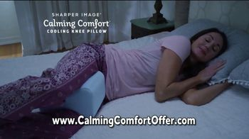 Sharper Image Calming Comfort TV Spot, 'Weighted Blanket & Cooling Knee Pillow' - Thumbnail 7
