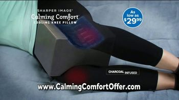 Sharper Image Calming Comfort TV Spot, 'Weighted Blanket & Cooling Knee Pillow' - Thumbnail 8