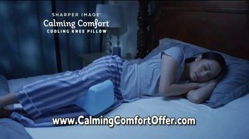 Sharper Image Calming Comfort TV Spot, 'Weighted Blanket & Cooling Knee Pillow' - Thumbnail 9