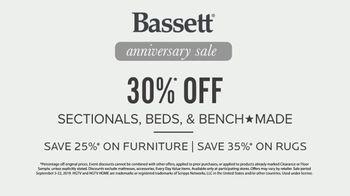 Bassett Anniversary Sale TV Spot, 'Custom Furniture for You: 30 Percent Off' - Thumbnail 10