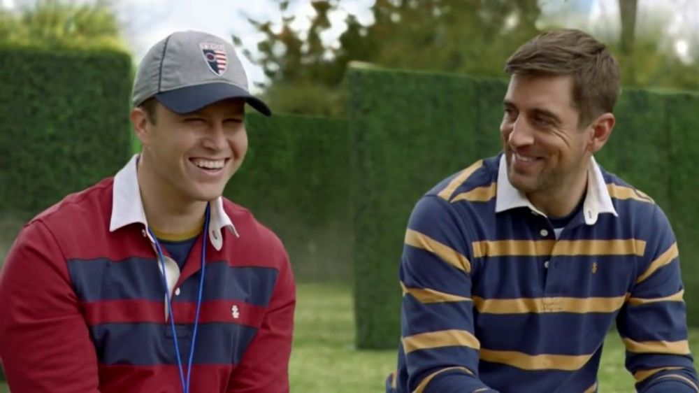Izod Tv Commercial Behind The Scenes Injury Featuring Colin Jost Aaron Rodgers Ispot Tv