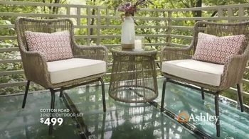 Ashley HomeStore Black Friday in July TV Spot, 'Zero Percent Interest on Outdoor Set & Sectional' Song by Midnight Riot - Thumbnail 7