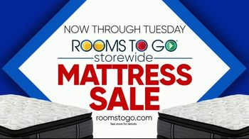 Rooms to Go Storewide Mattress Sale TV Spot, 'Sleep Like a King' - Thumbnail 10