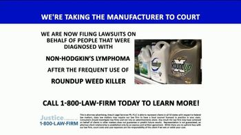 1-800-LAW-FIRM TV Spot, 'Lawsuit: Roundup Weed Killer' - Thumbnail 4
