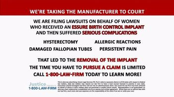 1-800-LAW-FIRM TV Spot, 'Essure Birth Control Implant Manufacturer'