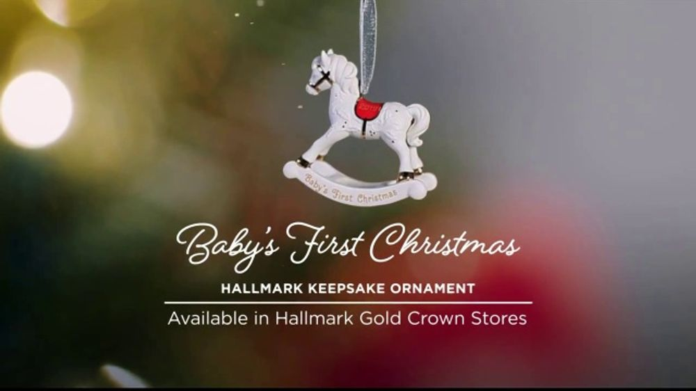 Hallmark Keepsake Ornaments TV Commercial, 'Hallmark Channel: Baby's First  Christmas' - Video