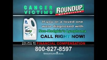 Knightline Legal TV Spot, 'Roundup Weed Killer'