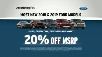 AutoNation TV Spot, 'Reputation Score: 2018 and 2019 Ford Models' - Thumbnail 5