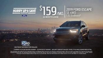 Ford Hurry Up & Save Sales Event TV Spot, '2019 Escape' [T2] - Thumbnail 2