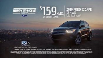 Ford Hurry Up & Save Sales Event TV Spot, '2019 Escape' [T2] - Thumbnail 1