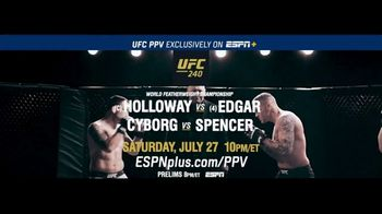 ESPN+ TV Spot, 'UFC 240: World Featherweight Championship'