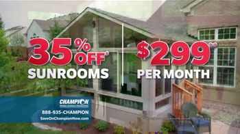 Champion Windows TV Spot, 'Sunrooms: Dream Home' - Thumbnail 2