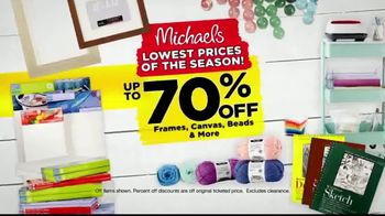 Michaels Lowest Prices of the Season Sale TV Spot, 'Up to 70 Percent Off'