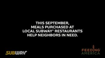 Feeding America Hunger Action Month TV Spot, 'Subway' - Thumbnail 6