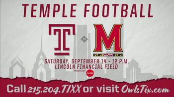 Temple University TV Spot, '2019 Maryland Tickets' - Thumbnail 10