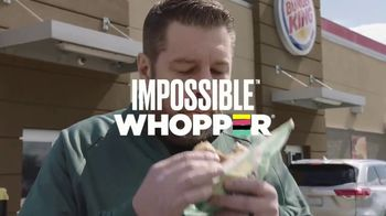 Burger King Impossible Whopper TV Spot, 'Patty Made from Plants: DoorDash' - Thumbnail 3