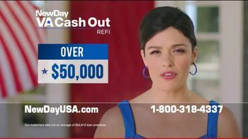 NewDay USA VA Cash Out Home Loan TV Spot, 'Peace of Mind' - 3 commercial airings