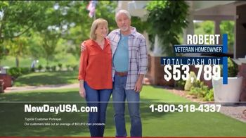 NewDay USA VA Cash Out Home Loan TV Spot, 'Peace of Mind' - Thumbnail 2