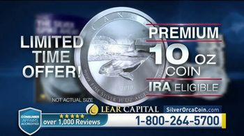Lear Capital TV Spot, 'Two Ounce Silver Orca: Ten Ounce Limited Time Offer' - Thumbnail 9