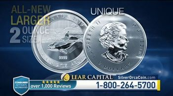 Lear Capital TV Spot, 'Two Ounce Silver Orca: Ten Ounce Limited Time Offer' - Thumbnail 4