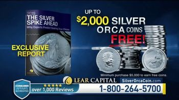 Lear Capital TV Spot, 'Two Ounce Silver Orca: Ten Ounce Limited Time Offer' - Thumbnail 8