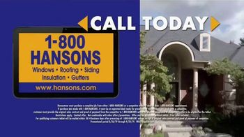 1-800-HANSONS End of Summer Roofing Sale TV Spot, '50% Off and Free Tablet' - Thumbnail 5