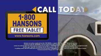 1-800-HANSONS End of Summer Roofing Sale TV Spot, '50% Off and Free Tablet' - Thumbnail 6