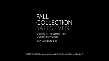 Lexus Fall Collection Sales Event TV Spot, 'Smart Is the New Sexy' [T2] - Thumbnail 9
