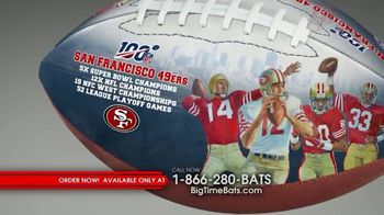 Big Time Bats TV Spot, 'San Francisco 49ers NFL 100th Legacy Art Football'