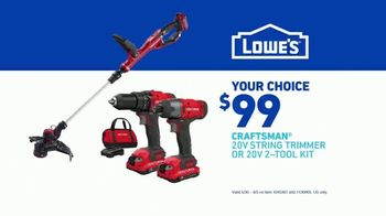 Lowe's TV Spot, 'Handyman: Craftsman Trimmer and Kit' - Thumbnail 8