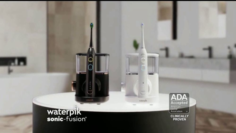 Waterpik Sonic-Fusion TV Commercial, 'Big News' Featuring Amy Motta