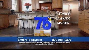 Empire Today Venta Gigante de 75 Por Ciento de Descuento TV Spot, 'Renueva tus pisos' [Spanish] - Thumbnail 3