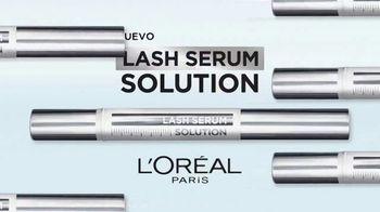 L'Oreal Paris Lash Serum Solution TV Spot, 'Complejo para el cuidado de las pestañas' [Spanish]