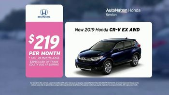AutoNation TV Spot, 'One Step Closer: 2019 Honda CR-V EX AWD' Song by Andy Grammer - 2 commercial airings