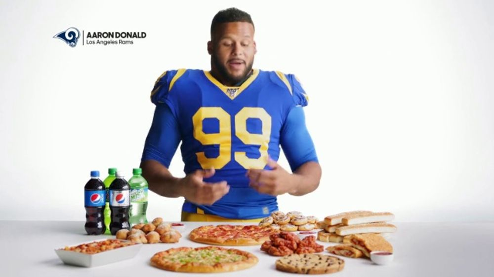 Pizza Hut TV Commercial, 'Aaron Donald Buys Lots' Featuring Aaron Donald