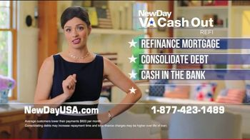 NewDay USA VA Cash Out Loan TV Spot, 'More Money, Lower Payments' - 2 commercial airings