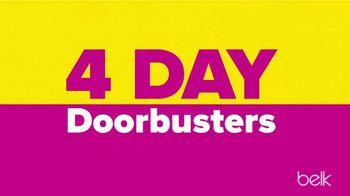 Belk Biggest One Day Sale TV Spot, 'Four Day Doorbusters'