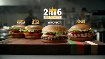 Burger King 2 for $6 Mix or Match TV Spot, 'Flame Grilled Whopper and Chicken' - Thumbnail 9