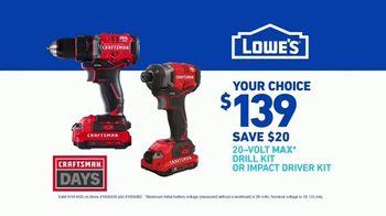 Lowe's Craftsman Days TV Spot, 'Handyman: Drill Kit' - Thumbnail 8