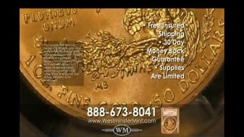 Westminster Mint 2019 $50 American Gold Eagle Coin TV Spot, 'Investment Potential' - Thumbnail 9