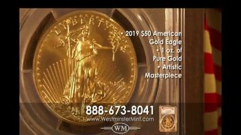 Westminster Mint 2019 $50 American Gold Eagle Coin TV Spot, 'Investment Potential'