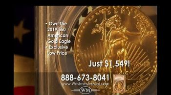 Westminster Mint 2019 $50 American Gold Eagle Coin TV Spot, 'Investment Potential' - Thumbnail 8